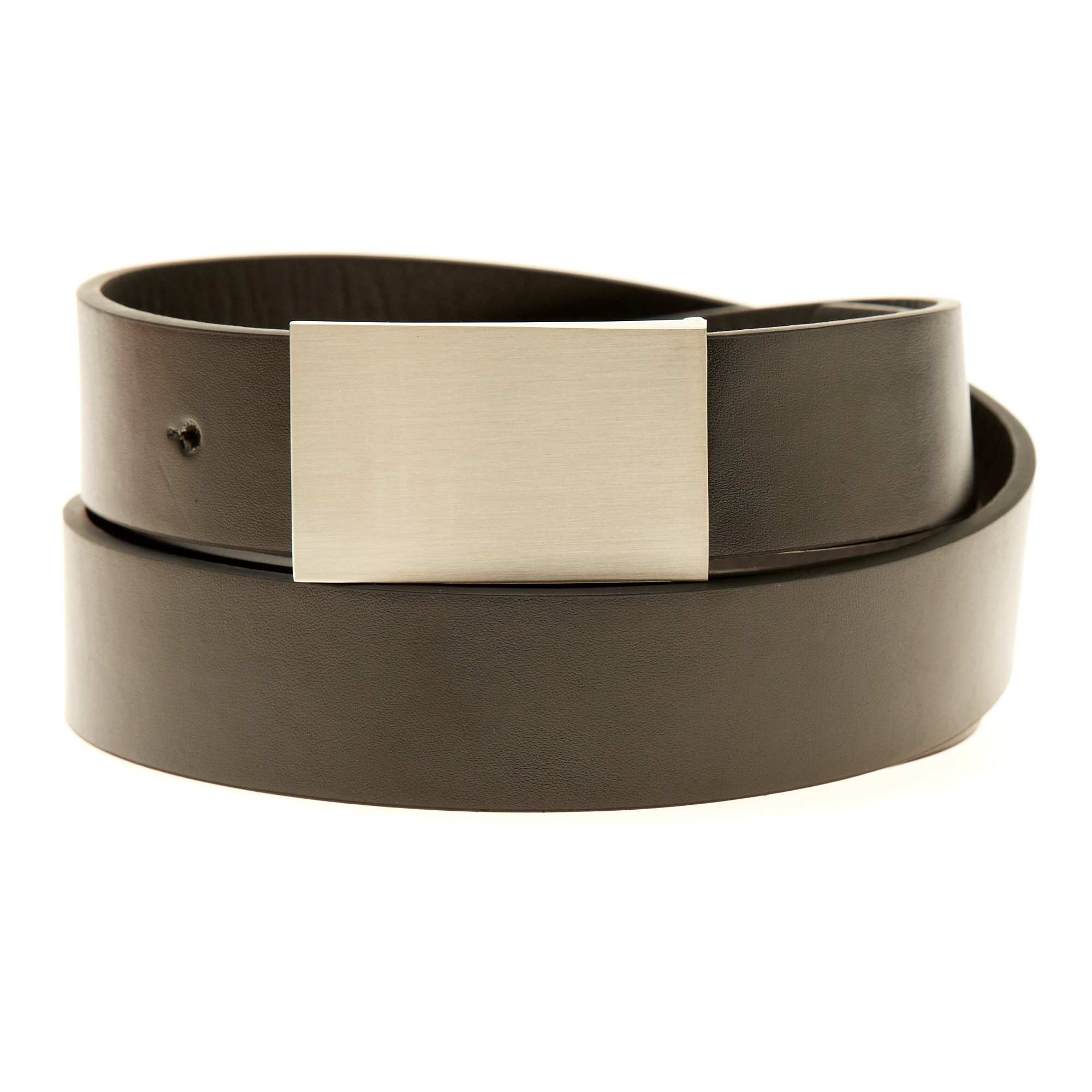 2e42e5c56 Cinturón liso de piel sintética negro Tallas grandes hombre. Loading zoom