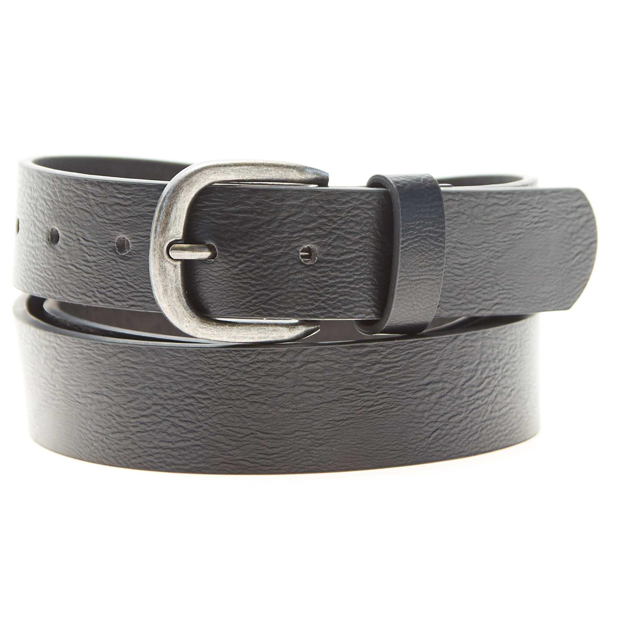 bc862ab98e7 Cinturón liso de piel sintética negro Tallas grandes hombre. Loading zoom