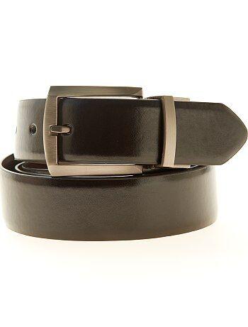Tallas grandes hombre - Cinturón reversible de piel sintética - Kiabi