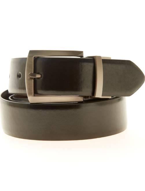 Cinturón reversible de piel sintética                             negro/marrón