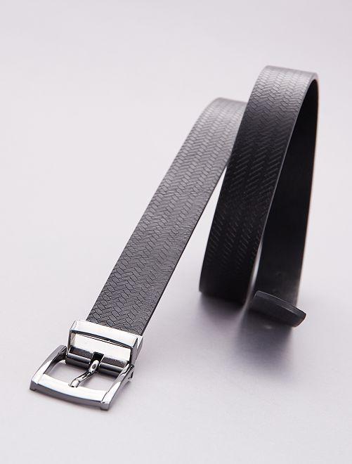 Cinturón reversible liso                             negro