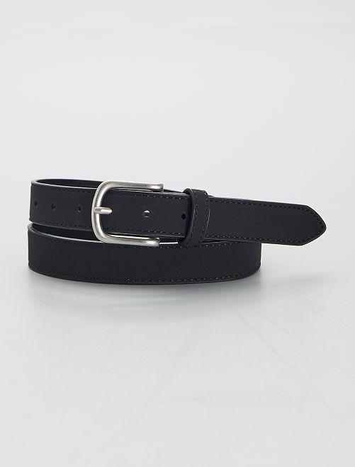 Cinturón sintético suave                             negro