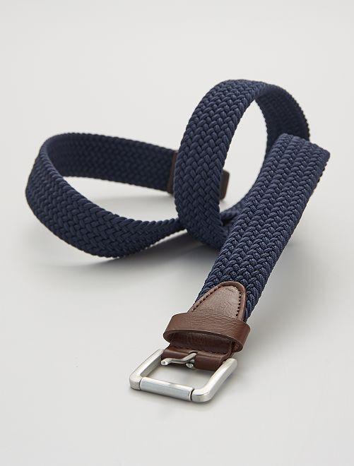 Cinturón trenzado elástico                                         azul