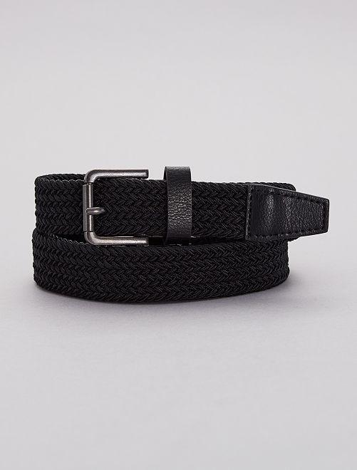 Cinturón trenzado elástico                             negro