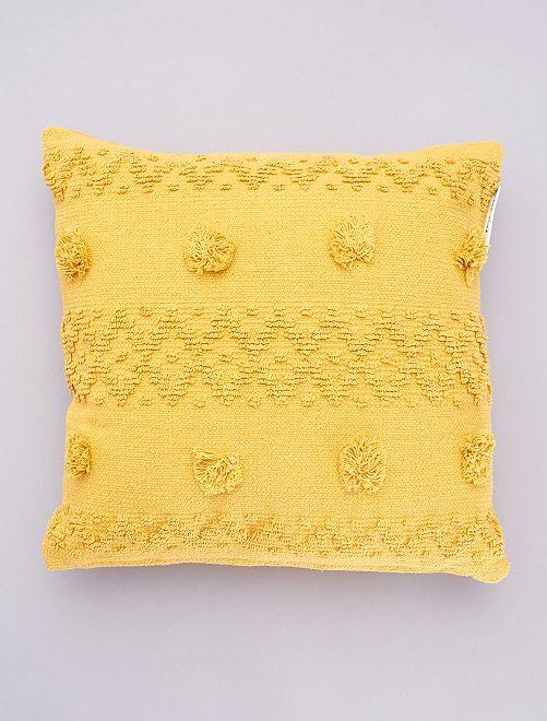 Cojín con borlas en relieve                                         amarillo