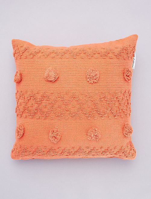 Cojín con borlas en relieve                                         naranja