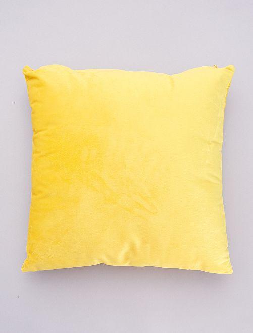 Cojín de terciopelo desenfundable                                                     amarillo