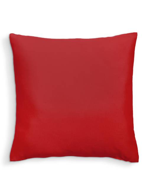 Cojín liso desenfundable                                                                 rojo