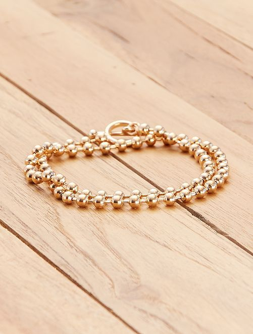 Collar con cadena dorada corta                             dorado
