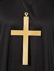 Collar con colgante de cruz de monje