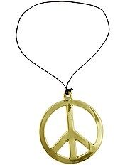 Collar hippie 'peace and love'