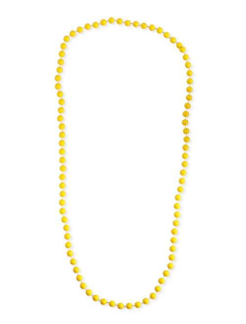 Collar largo de perlas                                                                 amarillo