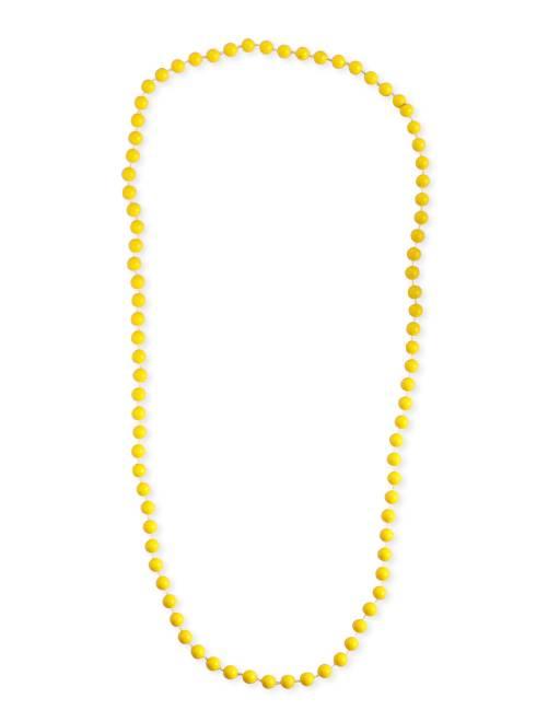 Collar largo de perlas                                                                 amarillo Mujer