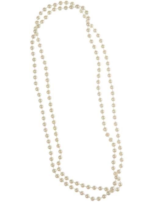 Collar largo de perlas                             blanco