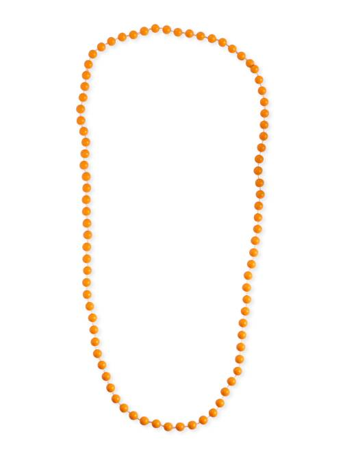 Collar largo de perlas                                                                 naranja