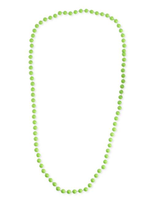 Collar largo de perlas                                                                 verde