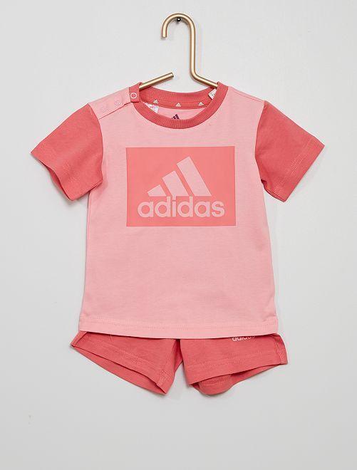 Conjunto 'Adidas' camiseta + short                             BEIGE