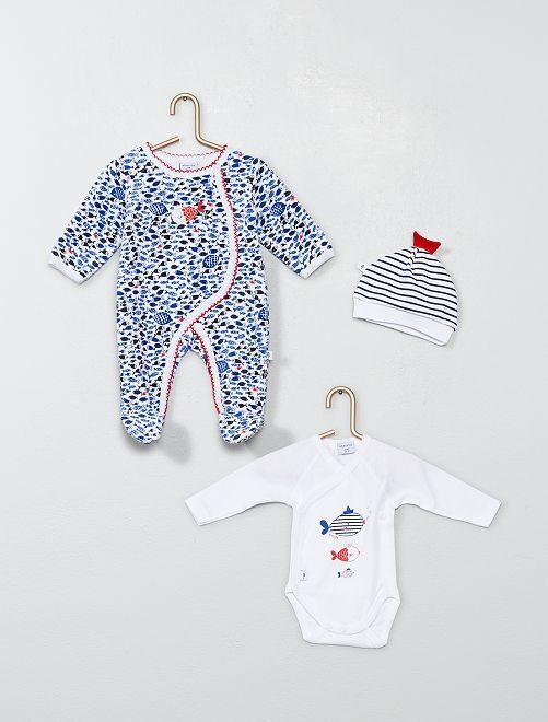 Conjunto body + pijama + gorro 'Absorba'                             ROSA