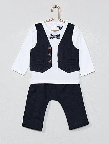 f695b9bda Niño 0-36 meses - Conjunto con camiseta 2 en 1 + pantalón - Kiabi
