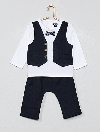 c76019283 Niño 0-36 meses - Conjunto con camiseta 2 en 1 + pantalón - Kiabi