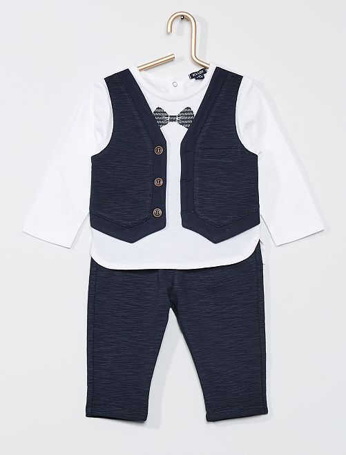 Conjunto con camiseta 2 en 1 + pantalón                             BLANCO