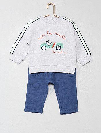 Niño 0-36 meses - Conjunto de 2 piezas  coche  - Kiabi 76176133eed