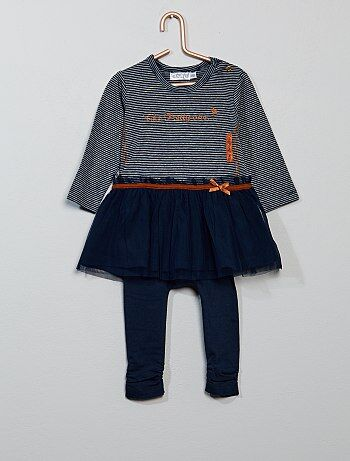 Conjunto de 2 piezas con vestido + legging - Kiabi