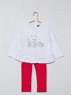 Conjunto de 2 piezas túnica + legging - Kiabi