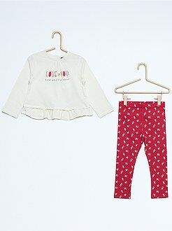 Niña 0-36 meses Conjunto de 2 piezas túnica + legging