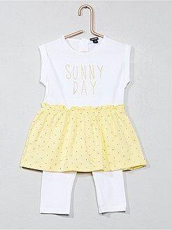 Conjuntos, ranitas amarillo - Conjunto de 2 piezas: vestido + legging - Kiabi