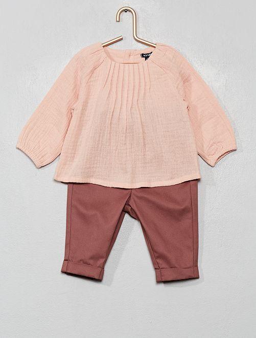 Conjunto de blusa + pantalón                                         ROSA