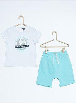 Niño 0-36 meses Conjunto de camiseta + bermudas estampadas