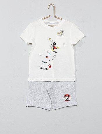 088495f22cb Conjunto de camiseta + bermudas  Mickey  - Kiabi