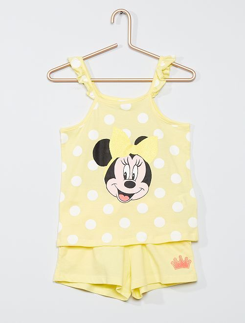 Conjunto de camiseta de tirantes + short 'Minnie'                                         AMARILLO