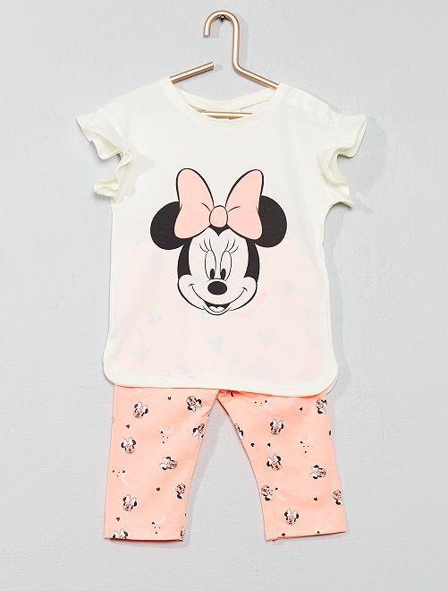 Conjunto de camiseta + legging 'Minnie'                             ROSA Bebé niña