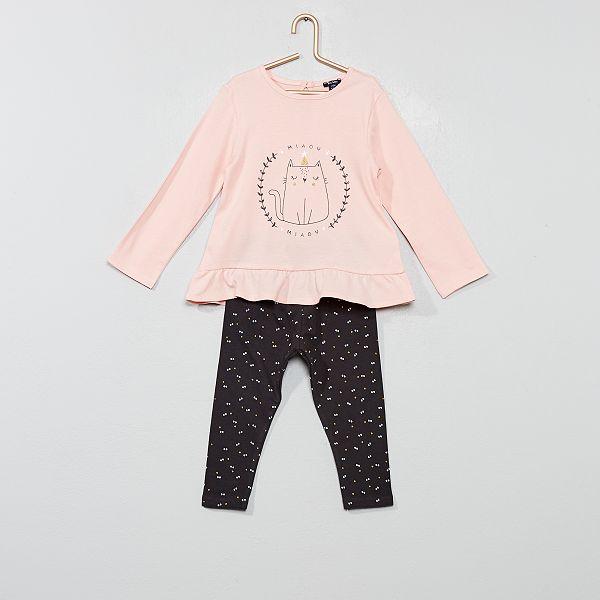 gran inventario comprar baratas estilos frescos Conjunto de camiseta + legging