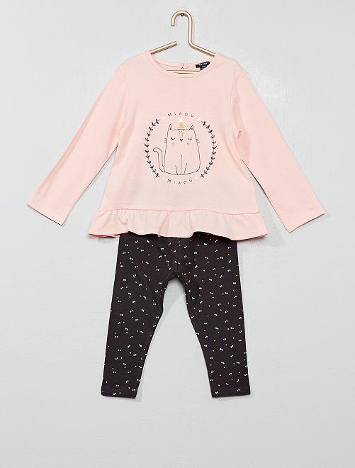 Conjunto de camiseta + legging                                                                 ROSA Bebé niña
