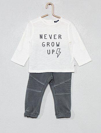 60ef4c444f1 Niño 0-36 meses - Conjunto de camiseta + pantalón - Kiabi