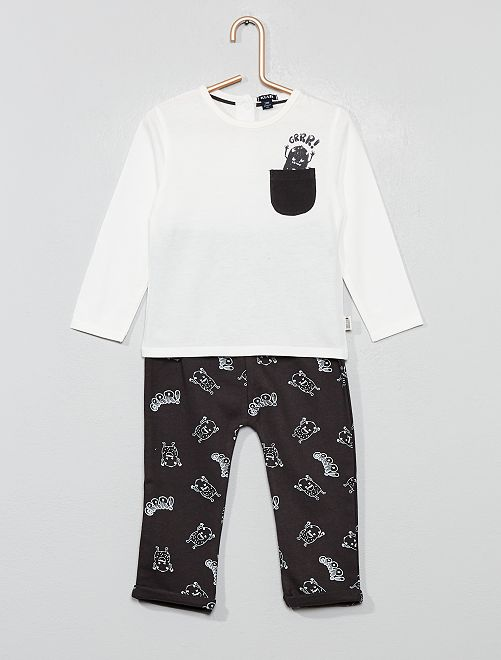 Conjunto de camiseta + pantalón                                                     BLANCO Bebé niño