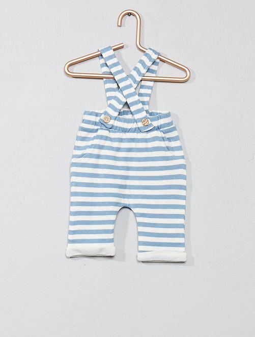 eb546abb1 Conjunto de camiseta + pantalón con tirantes Bebé niño - crudo azul ...