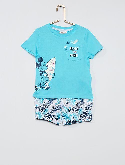 Conjunto de camiseta + pantalón corto                                         AZUL