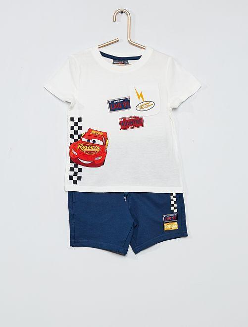 Conjunto de camiseta + pantalón corto 'Cars'                                         AZUL