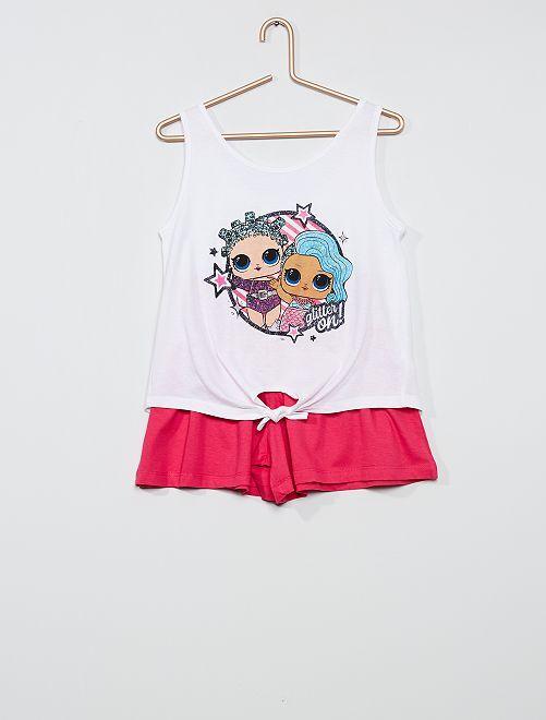Conjunto de camiseta + pantalón corto 'L.O.L. Surprise'                                         BLANCO