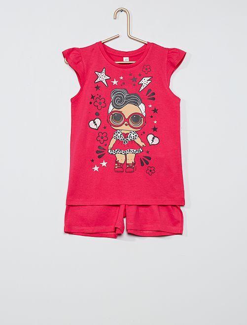 Conjunto de camiseta + pantalón corto 'L.O.L. Surprise'                                         fucsia