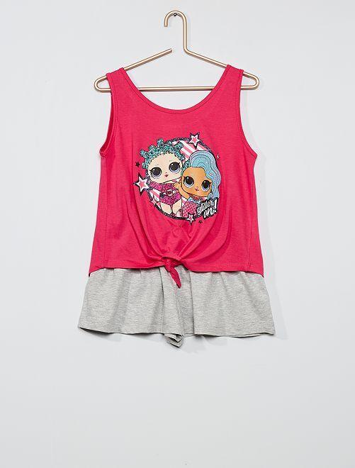 Conjunto de camiseta + pantalón corto 'L.O.L. Surprise'                                         ROSA