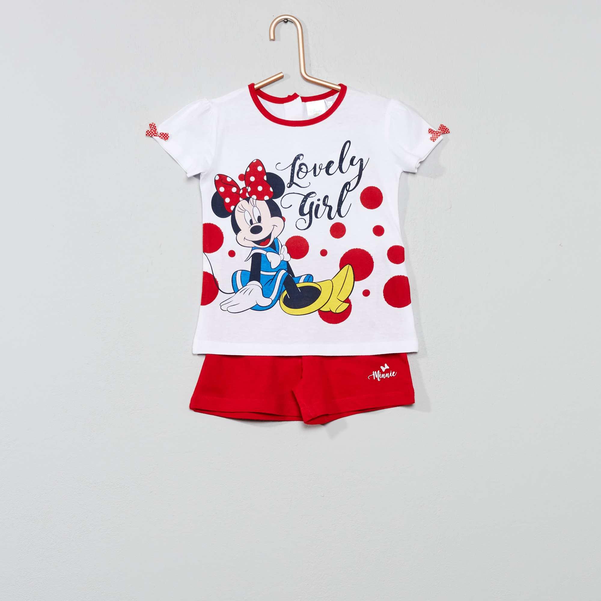 c01851c24 Conjunto de camiseta + pantalón corto  Minnie  rojo Bebé niña. Loading zoom