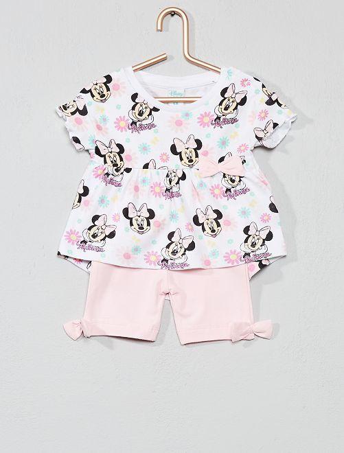 Conjunto de camiseta + pantalón corto 'Minnie'                     ROSA Bebé niña
