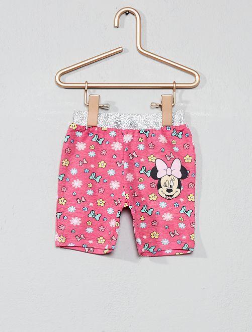 ec5ce3fd108 Conjunto de camiseta + pantalón corto  Minnie  Bebé niña - blanco ...