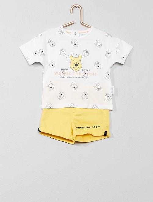 Conjunto de camiseta + pantalón corto 'Winnie'                             AMARILLO Bebé niño