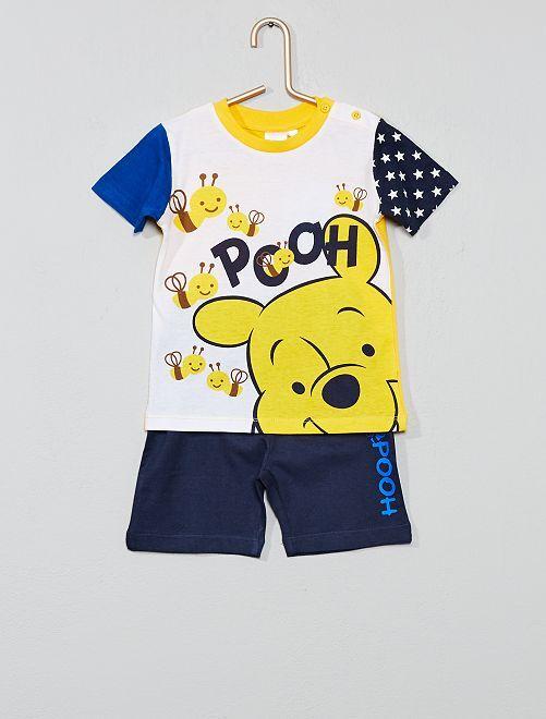 Conjunto de camiseta + pantalón corto 'Winnie'                                         azul/amarillo Bebé niño